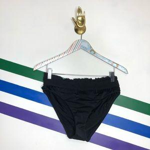 NEW LOFT High waist ruffle bikini bottoms